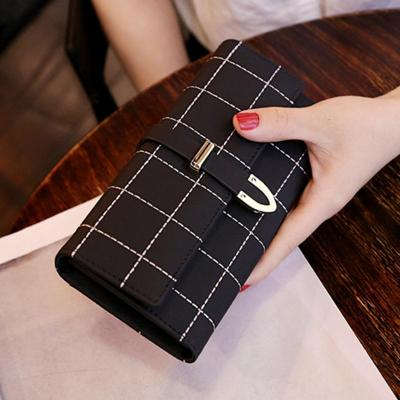 2019新款錢包女長款磨砂日韓大容量多功能三折女式錢夾皮夾手拿包朵洛蒂