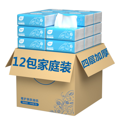 【買三組送4包】植護原木抽紙4層加厚12包整袋裝 居家母嬰衛生紙巾 抽取式面巾紙餐巾紙