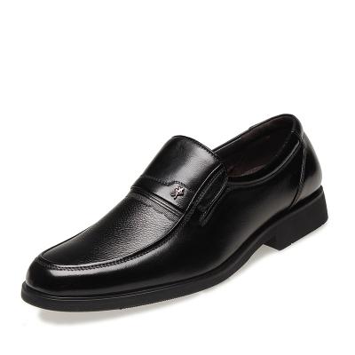 金猴(JINHO)春秋套脚透气圆头男鞋 商务男士正装牛皮鞋Q2995B