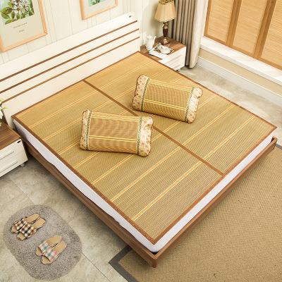 涼席 1.2*2M 鏡面竹席折疊碳化 宿舍家用 定制款 如圖色