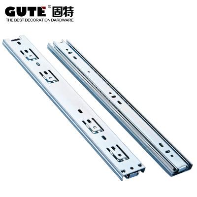 固特GUTE 冷軋鋼三節導軌靜音滾珠滑軌抽屜軌道 一副價 18寸45cm