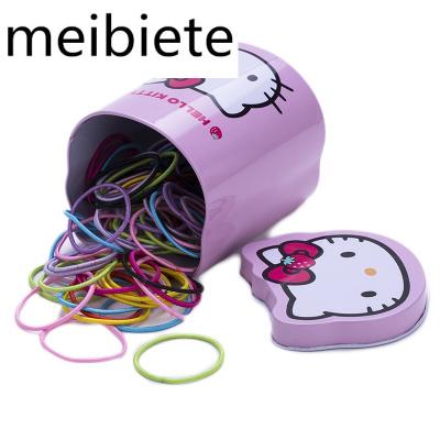 200條兒童扎頭圈橡皮筋女童寶寶不傷頭飾頭繩彩色飾女孩