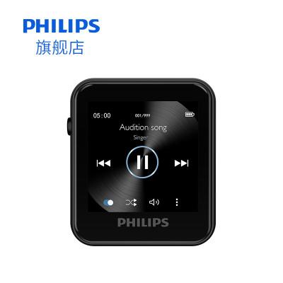 飛利浦藍牙MP3播放器SA6116小型隨身聽學生版便攜式可當手表小巧計步器功能迷你可拆卸背夾觸摸屏16G內存不支持視頻