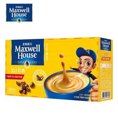 麦斯威尔奶香味咖啡三合一速溶咖啡粉60条780g盒装