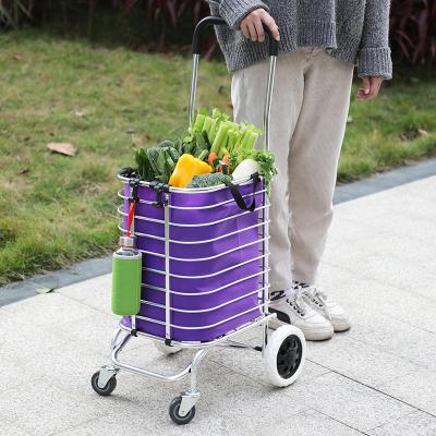 若鄰買菜車小拉車家用購物車爬樓可折疊便攜老人拉桿車手拉車推車