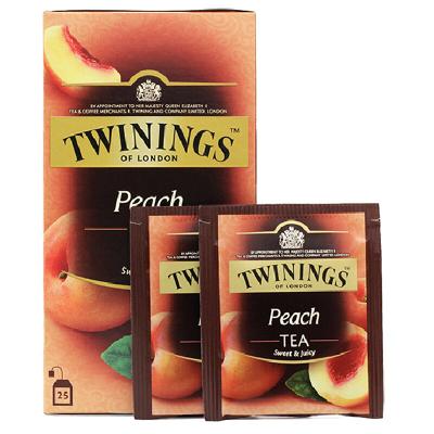 Twinings川宁 红茶蜜桃果香 红茶50g/25片 红茶包果味茶包袋泡茶