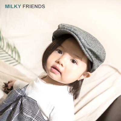 milky friends貝雷帽寶寶帽子兒童可愛氣質帽兒童帽子