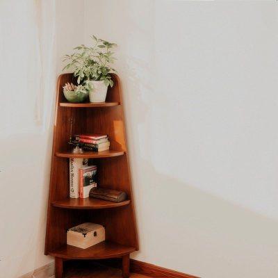 航竹坊 華日家居 實木日式簡約儲物角柜 邊柜 展示柜收納日式家具原創
