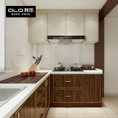 我樂櫥柜柏悅 現代輕奢整體廚房定制廚柜定做家用開放式家具裝修