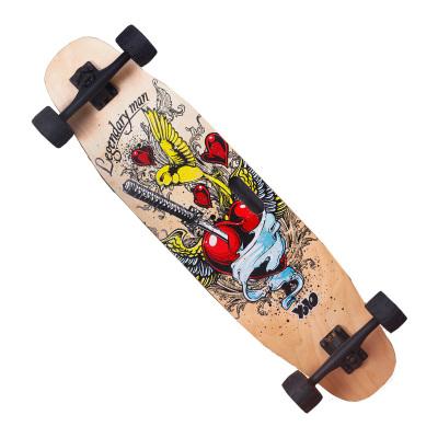 WITESS滑板全能板抖音滑板初學者成人長板男女生四輪滑板車公路刷街韓國雙翹舞板楓木板承重200KG