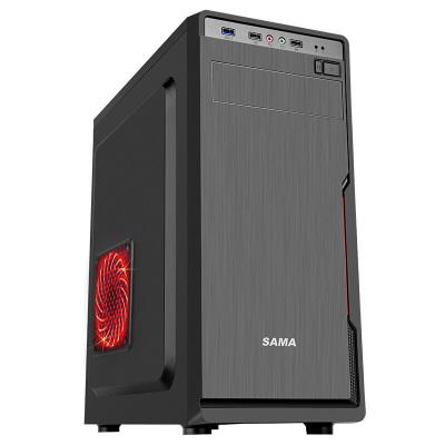 先馬(SAMA) 星脈1商務機箱(U3、支持ATX主板固態硬盤長顯卡高CPU散熱) 黑色 電腦機箱