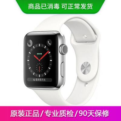 【二手95新】Apple iWatch3代 蘋果智能手表S3原裝正品電話運動防水手表 白色 GPS版 38mm裸機送表帶