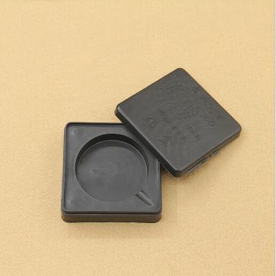 文教用品 小方形塑料墨盒砚台 书法装墨砚 椭圆塑料墨盒