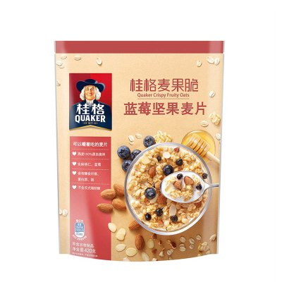 桂格(QUAKER)麦果脆蓝莓坚果麦片420g