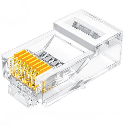 山泽SJ-6010非屏蔽水晶头RJ45网线8P8C连接头10个/盒 单位:盒