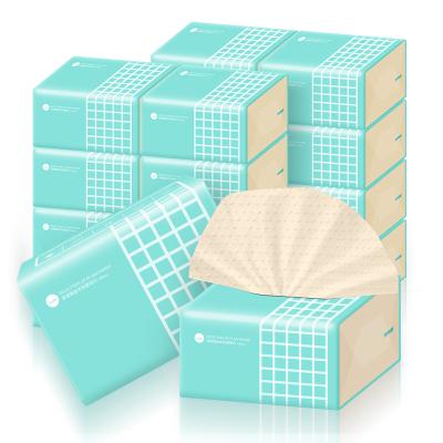 谷斑本色抽紙12包加厚實惠裝麗人裝3層紙巾家用面巾紙抽擦手紙