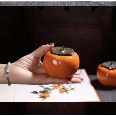 【百家湖云艺术】陶瓷密封罐 好事成双茶叶罐礼盒 陶瓷艺术品 典雅复古风 送礼美物