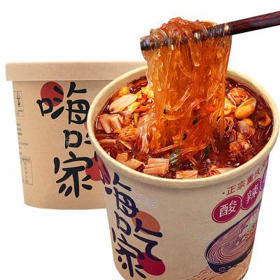 【農場】集香草嗨吃家酸辣粉絲桶裝126g*4桶重慶風味速食方便面辦公休閑美食
