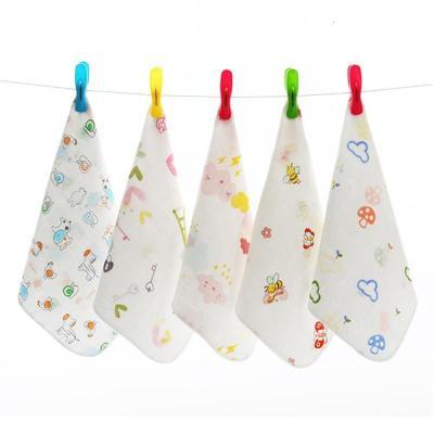 幼兒園小毛巾帶掛鉤兒童方巾小手帕小方毛巾 兒童專用洗臉