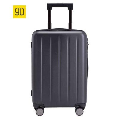 小米(mi)生態鏈90分旅行箱1A(20寸)幻夜黑 男女通用萬向輪商務休閑登機行李箱
