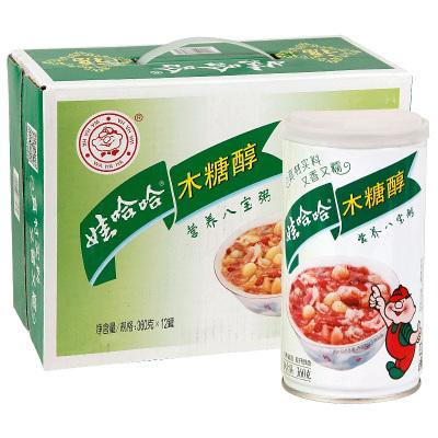娃哈哈木糖醇營養八寶粥360g*12罐裝早餐方便速食粗糧粥整箱批發