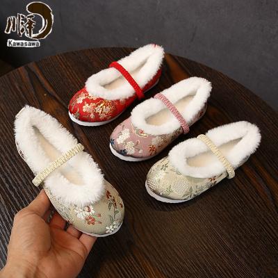 【新品特卖】老北京儿童手工布鞋女童加绒绣花汉服鞋古代刺绣鞋拜年鞋冬季棉鞋