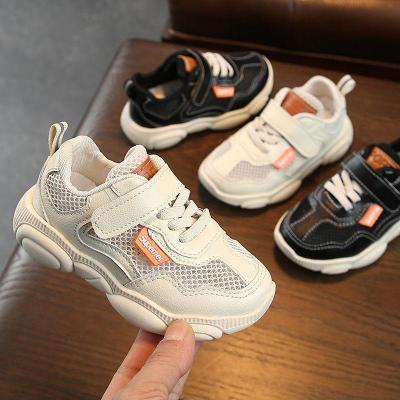 兒童小熊運動鞋網面透氣2019夏季新款男童軟底女跑步鞋女童1-3歲5 諾妮夢