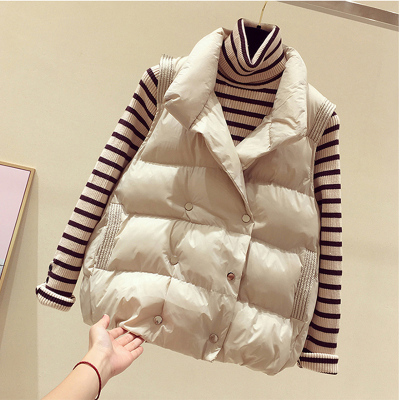 羽絨棉馬甲女短款百搭2020冬季新款女裝韓版無袖坎肩背心保暖立領馬夾棉服
