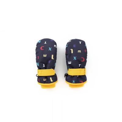 巴拉巴拉女童滑雪手套冬季新款加厚保暖加絨兒童防滑加絨男童保暖
