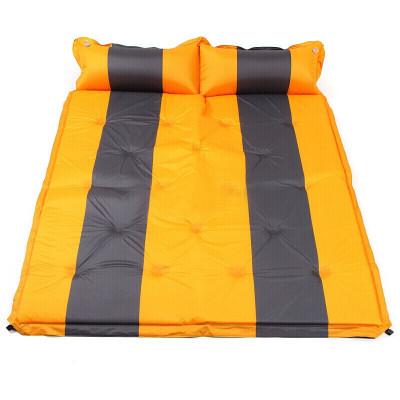 户外自动充气垫子加厚气垫床防潮垫帐篷床垫双人黄灰