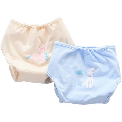 CottonTown 棉花堂 嬰兒純棉布尿褲 春秋新品寶寶針織尿布兜新生兒2條裝 2702