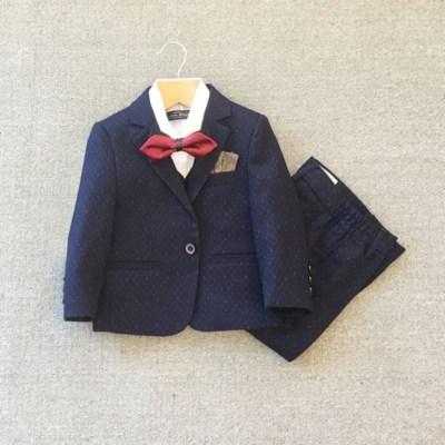 儿童西装套装花童礼服男宝宝西服周岁时尚婚礼男孩钢琴走秀春