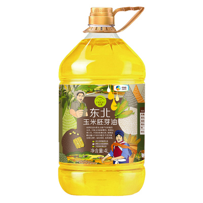 中粮初萃 非转基因压榨玉米油胚芽油4L 东北玉米 物理压榨胚芽桶装油 非转基因粮油 食用油