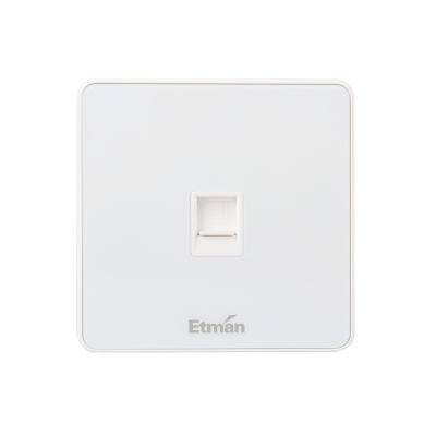 英特曼S3系列插座 单联电话插座 S3TU01-W