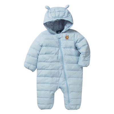 迷你巴拉巴拉男女寶寶羽絨連體衣加厚保暖冬嬰兒連帽哈衣爬服