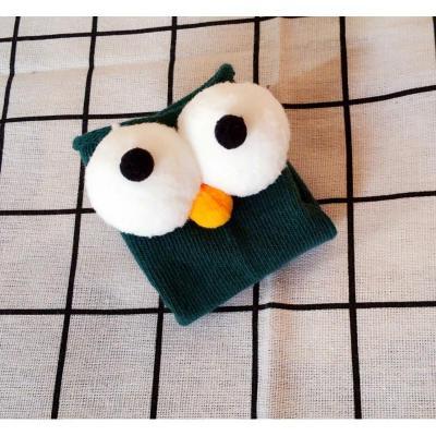 抹炫(MOXUAN)韩国春秋季新款儿童袜 大眼睛卡通纯棉童袜儿童堆堆袜