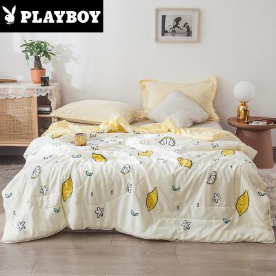 花花公子(PLAYBOY)家紡 水洗棉夏被子 單人雙人1.5/1.8/2.0m空調被夏涼被芯可水洗夏季薄被子簡約斜紋纖維
