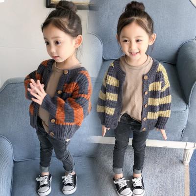 女童寶寶針織開衫毛衣春秋裝2019新款嬰兒中小男童外套1-2-3-4歲5 莎丞