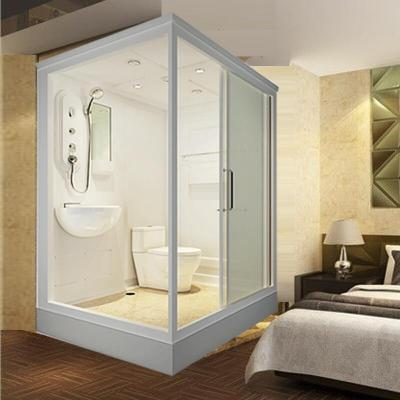 家用整体卫生间整体淋浴房一体式沐浴房钢化玻璃洗澡间集成浴室正开1400x110x215cm(不含马桶)不含蒸汽壹德壹