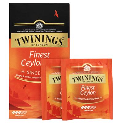 英国川宁(TWININGS) 精品锡兰茶 波兰进口茶叶袋泡茶包25包*2g