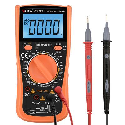 勝利儀器(VICTOR)萬用表數字家用數顯式全自動防燒多用表高精度電工萬能表 VC830L標配