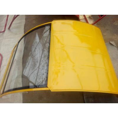 適用于三輪車雨棚電動三輪車篷鐵皮三輪車棚駕駛室快遞前車頭棚 擋雨棚全封閉 明黃色韻達黃