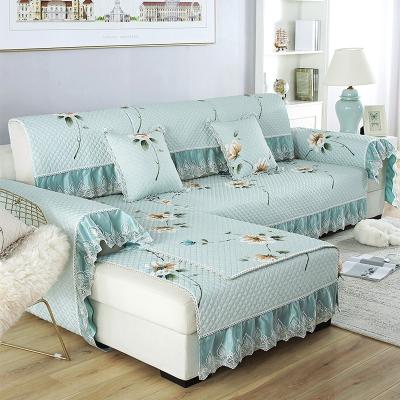 沙发套套装简约现代客厅全包万能沙发垫四季通用布艺123组合套罩 漫城绿 90*90+90*160+90*180三片装