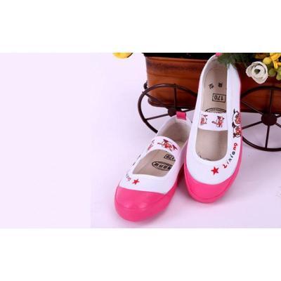 儿童布鞋男童体鞋女童舞蹈鞋小孩白球鞋幼儿园帆布鞋 莎丞