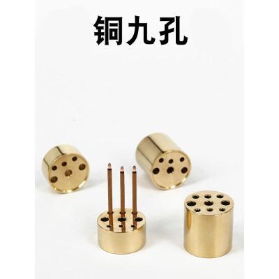 创意礼品 铜多孔香插三孔九孔铜香插香炉铜香道线香三根香礼佛香座香夹送礼品