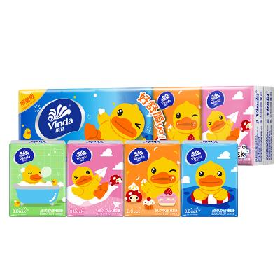 维达(Vinda) 手帕纸 B.Duck三层手帕纸*10包 纸手帕餐巾纸小包纸巾 (新旧包装交替发货)