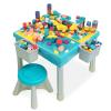 铭塔儿童积木桌子多功能宝宝早教益智拼装玩具女孩男孩玩具MT8211 200块颗粒