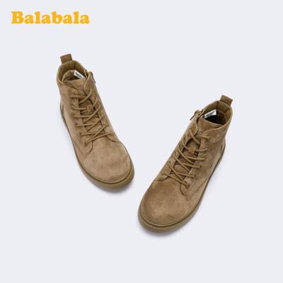 巴拉巴拉女童馬丁靴兒童靴子短靴2019冬季新款大童鞋洋氣保暖