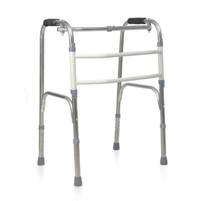 殘疾人助力器老人助步器行走輔助架四腳拐杖椅老年扶手架 不銹鋼扭動款