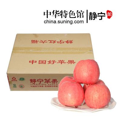 【中華特色】靜寧館 紅六福 特產水果 紅富士蘋果 65#—70#小果箱裝 新鮮蘋果 西北